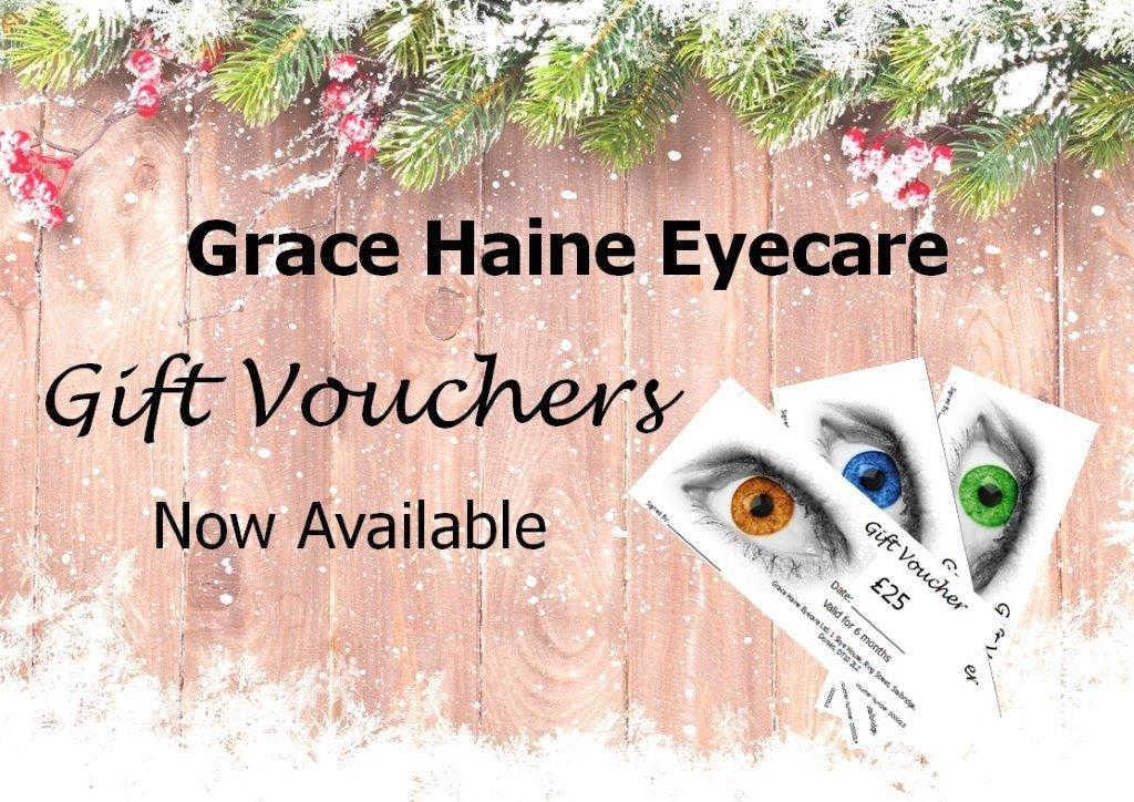 Grace Haine Eyecare Christmas vouchers
